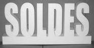 lettres soldes en polystyrène