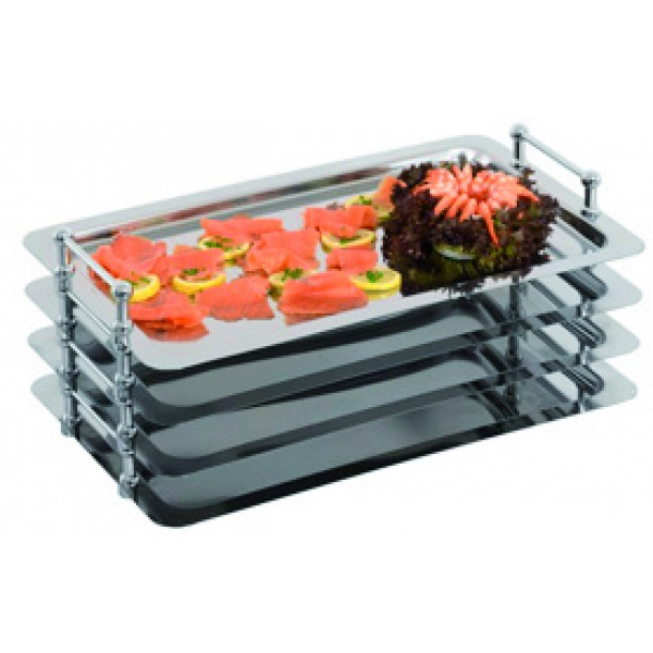 PLATEAU EMPILABLE GN 1/1, tout Inox F17