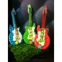 socle guitare électrique décorée