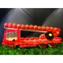 socle camion pompier décoré