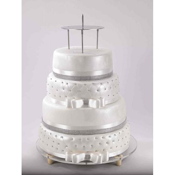 Présentoir inox pour montage de Wedding cake à la Française