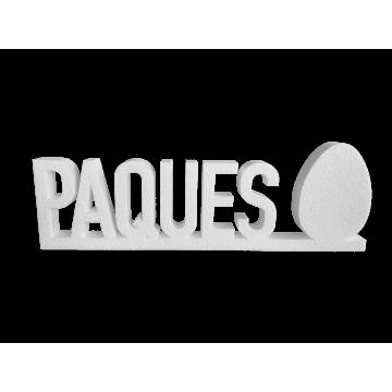 """Lettrage """"Pâques"""" œuf plein"""